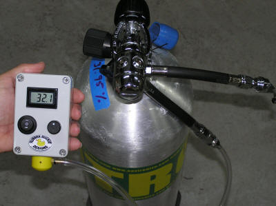 Oxygen Analyzer Sampling with BC Flow Adapter